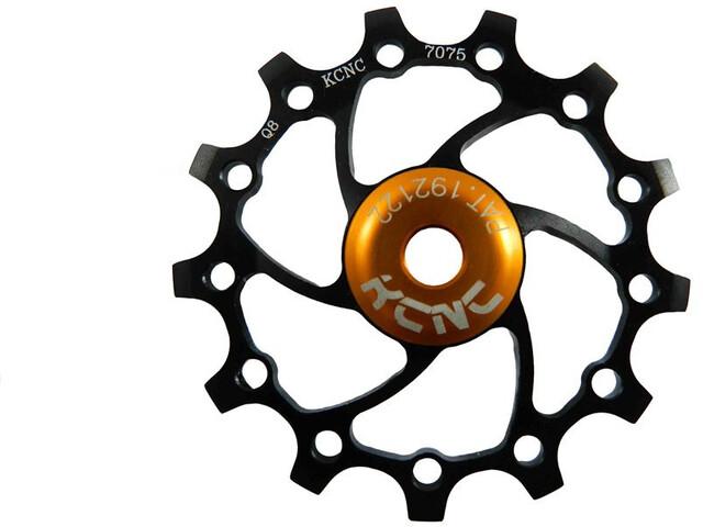 KCNC Original Jockey Wheel 12T Ceramic Bearing Long Teeth, negro